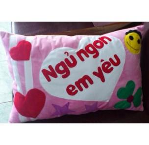 CN-034 Gối hồng ngủ ngon em yêu