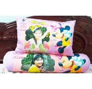AB-012  Bộ gối in ảnh bé cùng Minnie Mouse