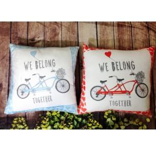 V-066 Cặp Gối xe đạp tình yêu