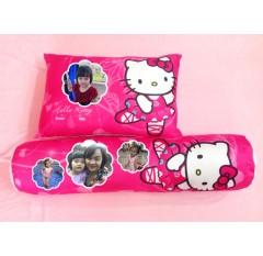 AB-09  Bộ gối in ảnh bé cùng Hello Kitty
